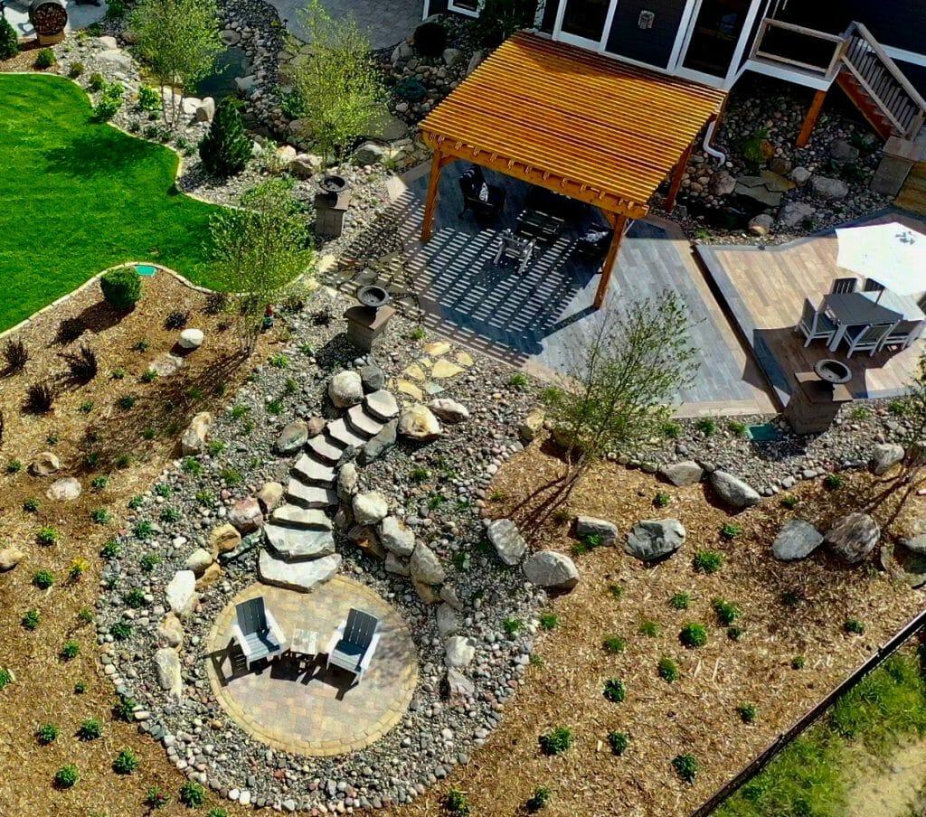 complete backyard renovation